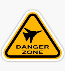 Danger Zone - Triangle Sticker