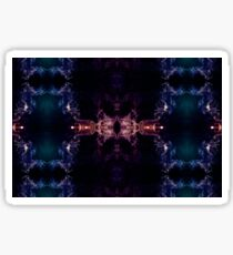 Abstract smoke fractal - The all seeing eye Sticker