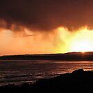 Great ocean sunset by Louise Delahunty