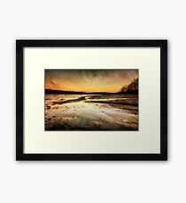 Textured Beach Sunset Framed Print