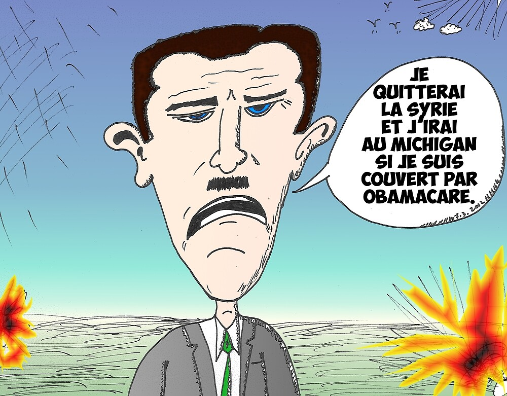 Assad en caricature des infos options binaires by Binary-Options