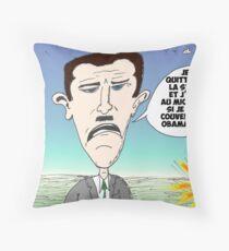 Assad en caricature des infos options binaires Throw Pillow