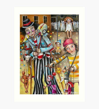 Puppeteers Art Print