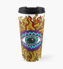 Psychedelic Sunflower - Just the flower Travel Mug