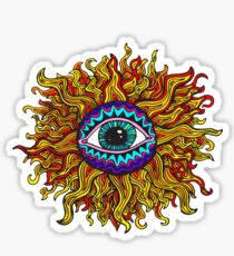 Psychedelic Sunflower - Just the flower Sticker