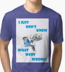 Derpy's gonna Derp - Poor Rainbow Dash Tri-blend T-Shirt
