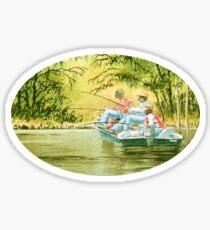 Fishing For Mullet Sticker