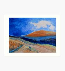 The Dirt Road. Art Print