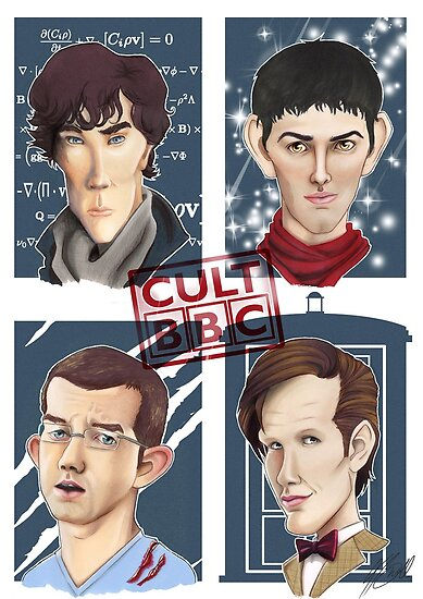 CULT BBC - The Heroes (All in 1) Poster by Thomas Birrell