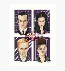 CULT BBC - The Villians Art Print