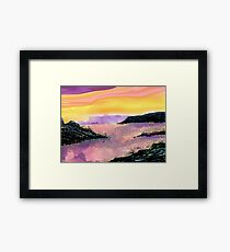 Seascape--On The Rocks. Framed Print