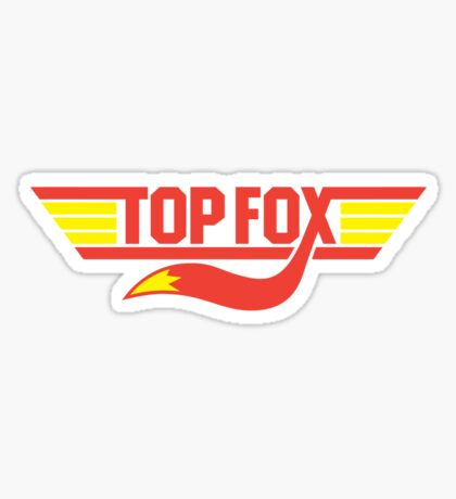 TOP FOX Sticker