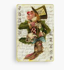 Mad Hatter Joker Card Canvas Print