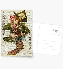 Mad Hatter Joker Card Postcards
