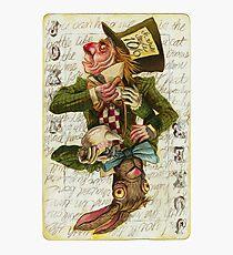 Mad Hatter Joker Card Photographic Print