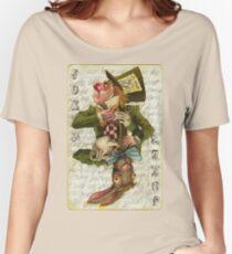Camiseta ancha Tarjeta Mad Hatter Joker
