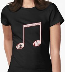 Music speaks volumes Womens Fitted T-Shirt