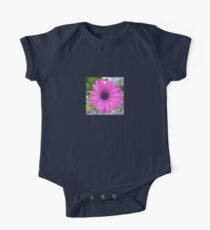 Violet Pink Osteospermum Flower Daisy One Piece - Short Sleeve
