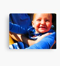 Little Boy Blue Afloat in a Boat Canvas Print