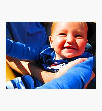 Little Boy Blue Afloat in a Boat Photographic Print