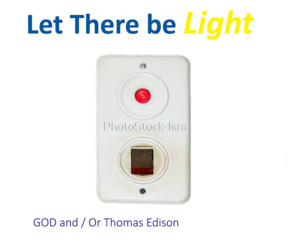Let There be light with a water boiler light switch by PhotoStock-Isra