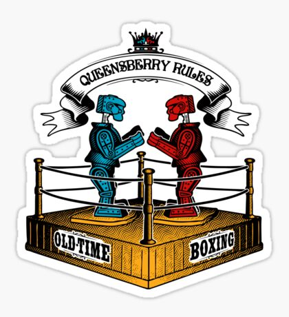 Old-Time Boxing Sticker