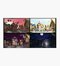 A Day in Ponyville Photographic Print