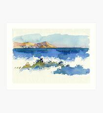 Black Sea Shore Art Print