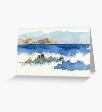 Black Sea Shore Greeting Card