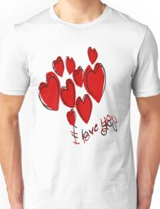I Love You Greetings With Hearts T-Shirt