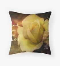 Thank you, act of kindness (for all my co hosts) Throw Pillow