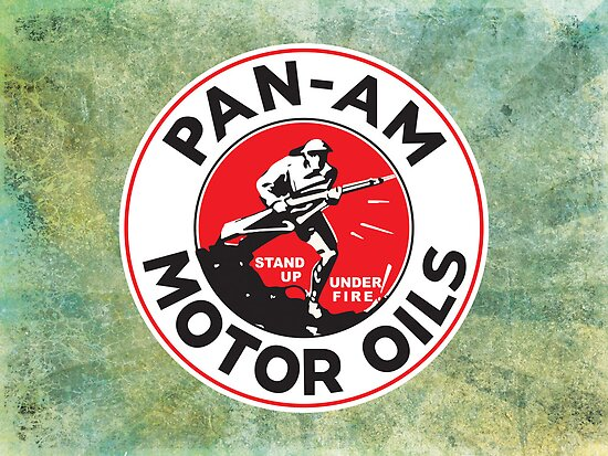 Retro Pan-Am Motor Oils Sign Reproduction by John Odziemek
