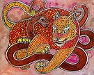 Leopard and Snake by Lynnette Shelley