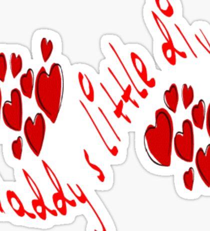 Daddy's little Diva Sticker