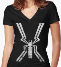 Agent Venom - Logo Women's Fitted V-Neck T-Shirt