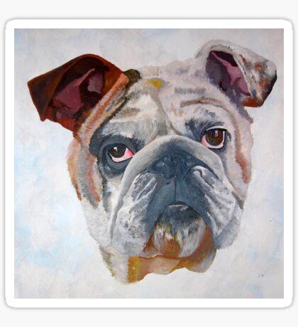 American Bulldog Portrait: Yale Mascot Sticker