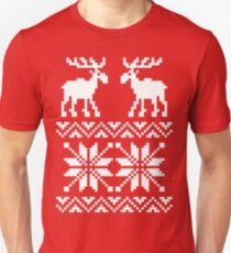 Moose Pattern Christmas Sweater Unisex T-Shirt