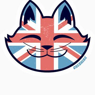 Cheshire POP! - UK Cat Sticker by CheshireGoMad
