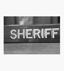 RIP Sheriff  Photographic Print