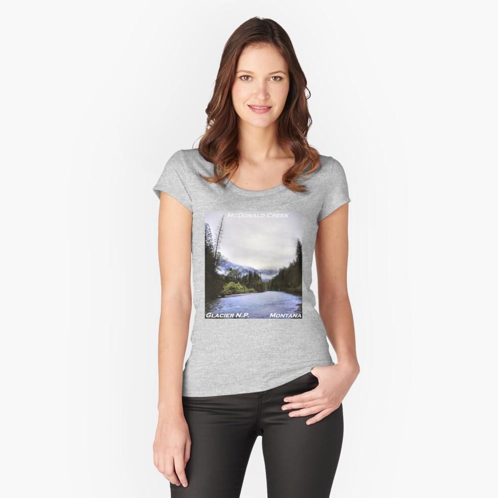 McDonald Creek, Glacier N.P., Montana Fitted Scoop T-Shirt