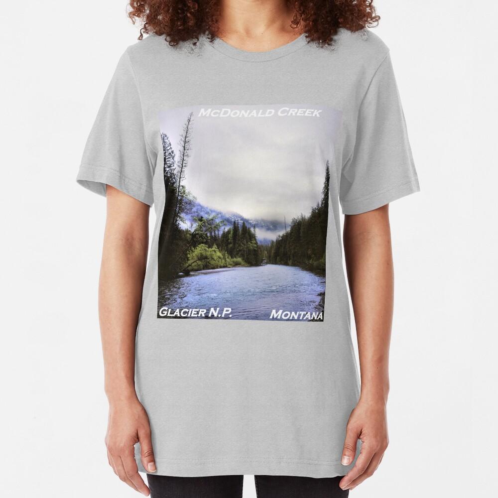 McDonald Creek, Glacier N.P., Montana Slim Fit T-Shirt