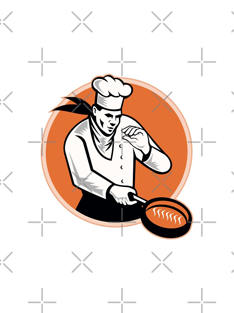 Chef Cook Cooking Pan Circle by patrimonio