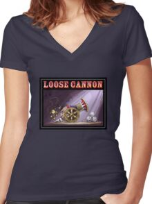 Loose Cannon  Women's Fitted V-Neck T-Shirt