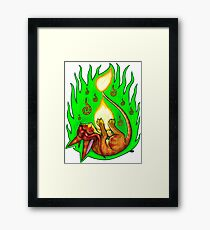 Pyrofeline - Playing with Fire Framed Print
