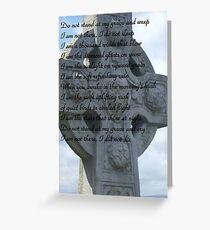 Irish Sympathy Card Greeting Card