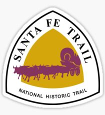 Santa Fe Trail Sign, USA Sticker