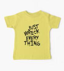 Just Wreck Everything Black Grunge Graffiti Baby Tee
