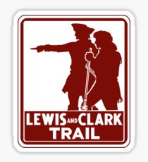 Lewis & Clark, Traffic Guide Sign, USA Sticker