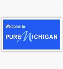 Pegatina Bienvenido a Pure Michigan Road Sign
