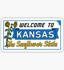 Welcome to Kansas Sign Vintage 50s Sticker